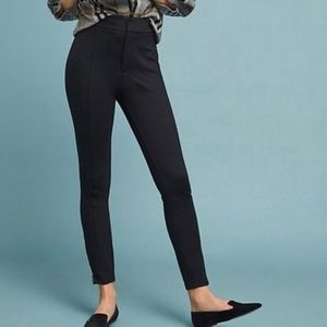 Anthropologie The Essential Slim Black Trousers